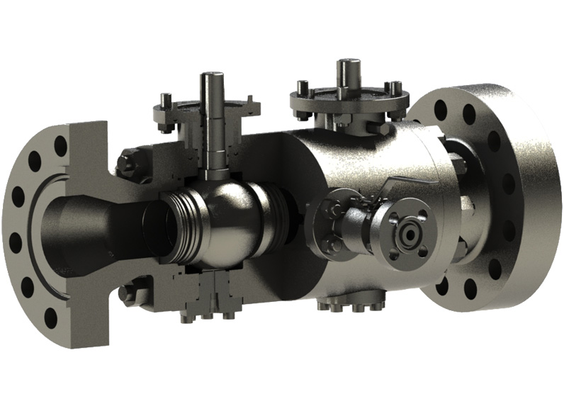 Modular Double Block and Bleed Ball Valve